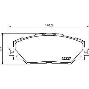 Комплект тормозных колодок, дисковый тормоз 2433701 textar - TOYOTA RAV 4 III (ACA3_, ACE_, ALA3_, GSA3_, ZSA3_) вездеход закрытый 2.4 VVTi 4WD