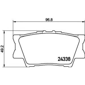 TEXTAR 2433801 Тормозные колодки дисковые TEXTAR