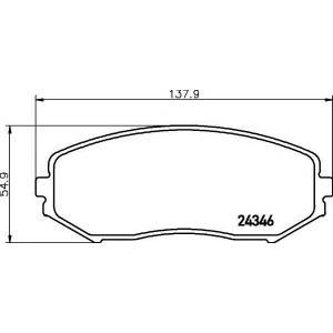Комплект тормозных колодок, дисковый тормоз 2434601 textar - SUZUKI GRAND VITARA II (JT) вездеход закрытый 2.7 Allrad