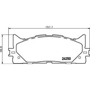 TEXTAR 2435001 ТОРМОЗНЫЕ КОЛОДКИ (дисков торм.) Front.