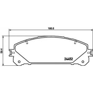 Комплект тормозных колодок, дисковый тормоз 2445201 textar - LEXUS RX (GYL1_, GGL15, AGL10) вездеход закрытый 350 AWD