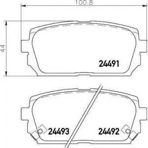 Комплект тормозных колодок, дисковый тормоз 2449101 textar - KIA CARENS III (UN) вэн 1.6 CVVT