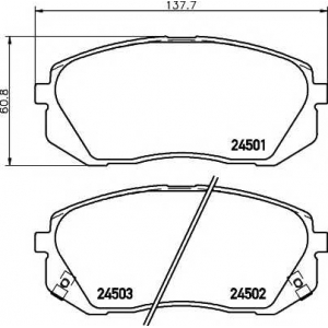 Комплект тормозных колодок, дисковый тормоз 2450101 textar - KIA SPORTAGE (JE_) вездеход закрытый 2.0 CRDi 4WD
