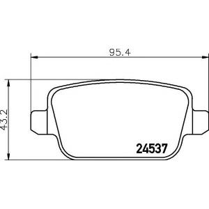 TEXTAR 2453703 Тормозные колодки (дисков торм.)