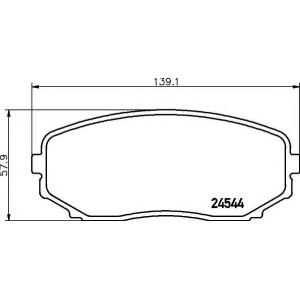 Комплект тормозных колодок, дисковый тормоз 2454401 textar - MAZDA CX-7 (ER) вездеход закрытый 2.5 MZR
