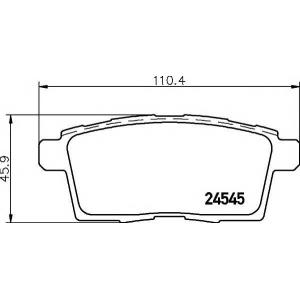 Комплект тормозных колодок, дисковый тормоз 2454501 textar - MAZDA CX-7 (ER) вездеход закрытый 2.5 MZR