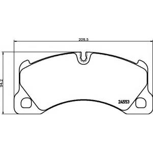 Комплект тормозных колодок, дисковый тормоз 2455301 textar - PORSCHE PANAMERA Наклонная задняя часть 4.8 Turbo