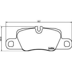Комплект тормозных колодок, дисковый тормоз 2455401 textar - PORSCHE PANAMERA Наклонная задняя часть 3.0 D