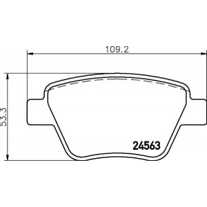 Комплект тормозных колодок, дисковый тормоз 2456301 textar - VW TOURAN (1T3) вэн 1.2 TSI