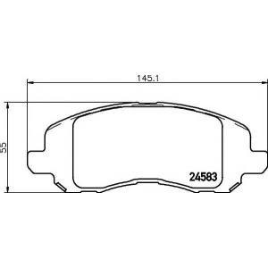 Комплект тормозных колодок, дисковый тормоз 2458301 textar - DODGE AVENGER седан 2.7