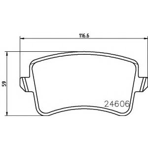 Комплект тормозных колодок, дисковый тормоз 2460602 textar - AUDI Q5 (8R) вездеход закрытый 2.0 TFSI hybrid quattro