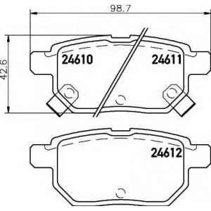 Комплект тормозных колодок, дисковый тормоз 2461001 textar - TOYOTA URBAN CRUISER (NSP1_, NLP1_, ZSP1_, NCP11_) Наклонная задняя часть 1.33