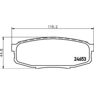 Комплект тормозных колодок, дисковый тормоз 2465301 textar - LEXUS LX (URJ201) вездеход закрытый 570 4x4