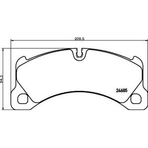 TEXTAR 2468501 Тормозные колодки (дисков торм.)