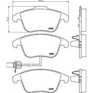 TEXTAR 2470601 Тормозные колодки дисковые Textar