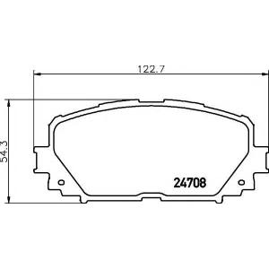 Комплект тормозных колодок, дисковый тормоз 2470801 textar - TOYOTA YARIS седан (ZSP9_, _CP9_, NCP9_, NCP4_) седан 1.3 4WD