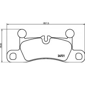 Комплект тормозных колодок, дисковый тормоз 2472101 textar - PORSCHE CAYENNE вездеход закрытый 3.0 Diesel