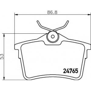 TEXTAR 2476501 Тормозные колодки (дисков торм.)
