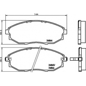 TEXTAR 2486401 Тормозные колодки дисковые Textar