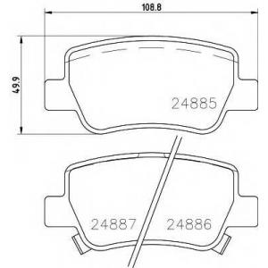 TEXTAR 2488501 Колодки тормозные дисковые, комплект