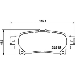 TEXTAR 2491801 Колодки тормозные, к-кт.