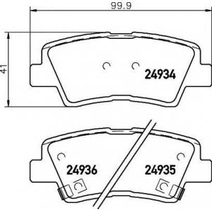 TEXTAR 2493401 Колодки тормозные, к-кт.