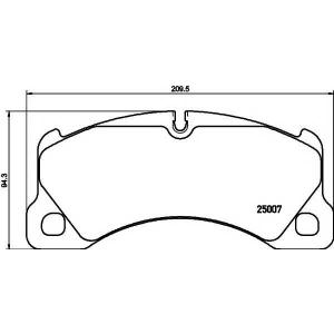TEXTAR 2500701 Тормозные колодки (дисков. тормоз)