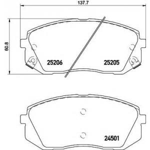 TEXTAR 2520501 Тормозные колодки (дисков. тормоз)