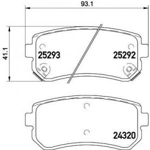TEXTAR 2529201 Тормозные колодки (дисков. тормоз)