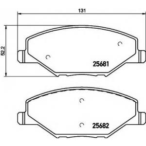 Колодки гальмівні дискові передні, комплект 2568101 textar -
