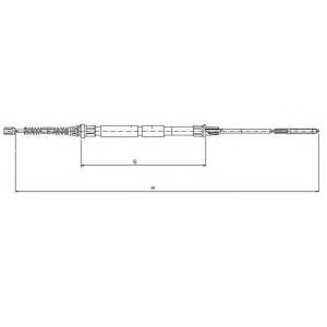 TEXTAR 44006500 Трос, стояночная тормозная система
