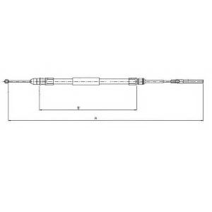 TEXTAR 44008800 Трос, стояночная тормозная система