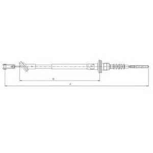 TEXTAR 58014600 Трос, управление сцеплением