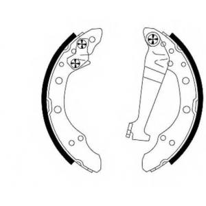 Комплект тормозных колодок 91018300 textar - AUDI 50 (86) Наклонная задняя часть 1.1