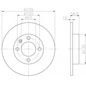 TEXTAR 92009303 Диск тормозной