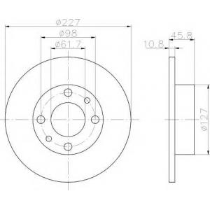 TEXTAR 92019300 Тормозной диск