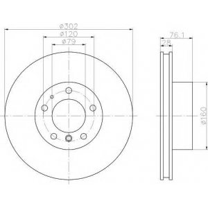 TEXTAR 92042400 Тормозной диск