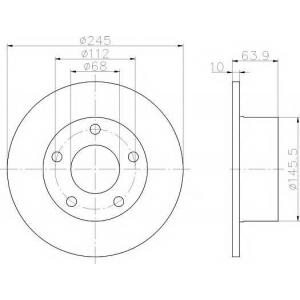 TEXTAR 92057503 Диск тормозной задний