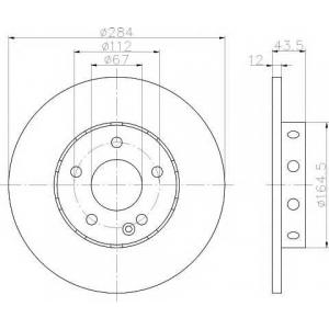 TEXTAR 92059303 Тормозной диск TEXTAR PRO
