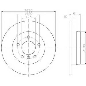 TEXTAR 92076603 Тормозной диск