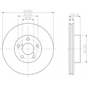 TEXTAR 92081900 Тормозной диск TEXTAR