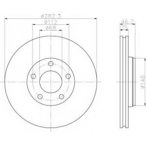 TEXTAR 92083603 Тормозной диск TEXTAR PRO