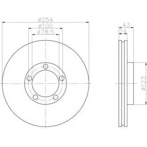 TEXTAR 92088100 Тормозной диск
