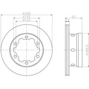 TEXTAR 92089800 Диск тормозной задний