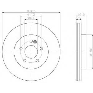 TEXTAR 92089900 Тормозной диск TEXTAR
