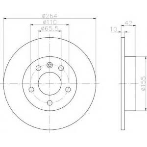 TEXTAR 92092103 Тормозной диск TEXTAR PRO