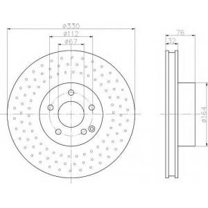 TEXTAR 92099203 Тормозной диск TEXTAR PRO