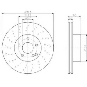 TEXTAR 92099303 Тормозной диск