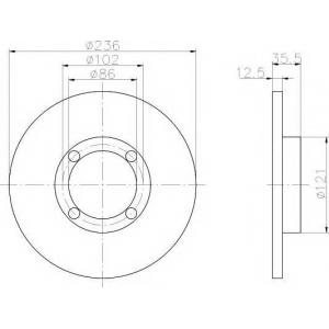 ��������� ���� 92100300 textar - CHEVROLET MATIZ (M200, M250) ��������� ������ ����� 0.8 LPG