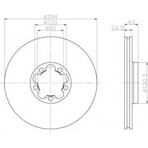 TEXTAR 92103803 Тормозной диск TEXTAR PRO